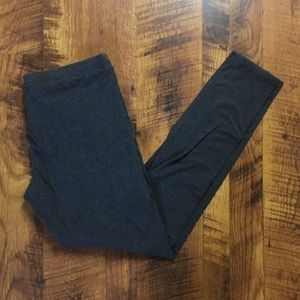 DARK GREY COTTON STRETCH LEGGINGS